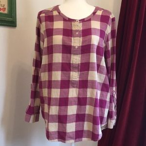 Lucky Brand Gingham Blouse
